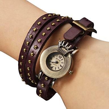 Women's PU Analog Quartz Bracelet Watch (Purple) Cool Watches Unique Watches