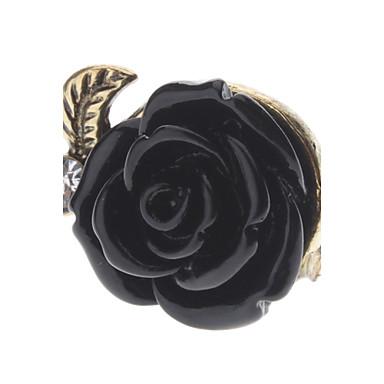 בגדי ריקוד נשים טבעת הצהרה סגסוגת ורדים פרח יומי תכשיטי תלבושות