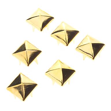 12 milímetros Golden Square metal Rivet (Conter 100 Pics)