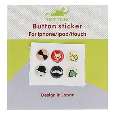 Cartoon pattern Button Home Stickers per iPhone 5 e altri