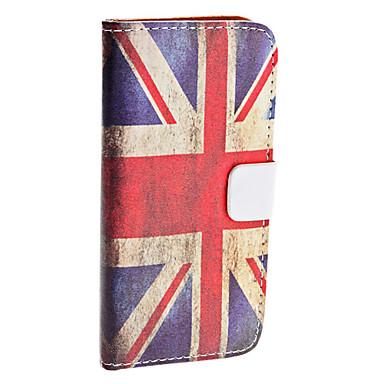Case em Pele para iPhone 5 - Bandeira Britânica Retro