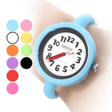 Unisexe Style de gelée de silicone bracelet montre à quartz analogique (couleurs assorties)
