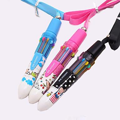 ieftine Instrumente Scris & Desen-model desen animat 10 culori pix stilou automat (culoare aleatorii)