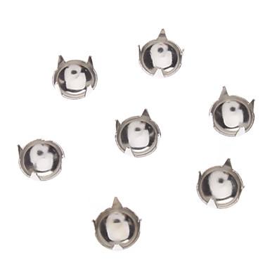 Metal 6mm Round Diamond tachonado de remaches (Contiene 100 fotos)
