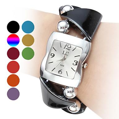 Mulheres Relógio de Moda Quartzo Lega Banda Bracelete Preta Azul Vermelho Laranja Verde Rosa Roxa Cores Múltiplas Cáqui RoseVerde Azul