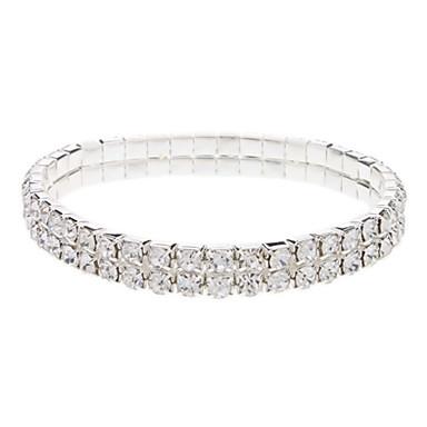 Narrow Silver Plated Crystal Bracklet