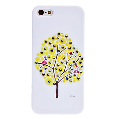 Tree Pattern Hard Case for iPhone 5/5S (Yellow)