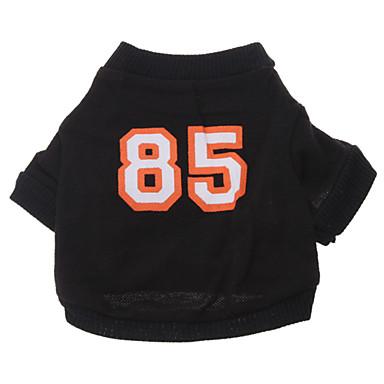 강아지 티셔츠 져지 강아지 의류 문자와 숫자 면 코스츔 제품 모든계절 & 가을
