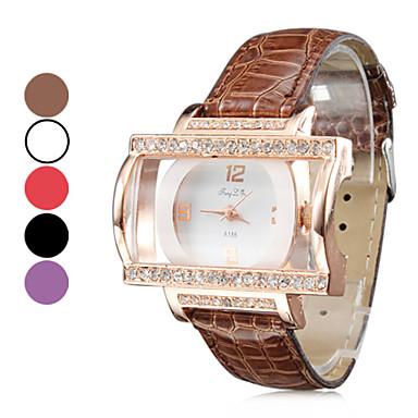 Women's Fashion Style PU Analog Quartz Wrist Watch (Assorted Colors)