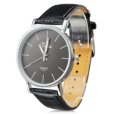 Unisex's PU Analog Quartz Wrist Watch (Black) Cool Watch Unique Watch