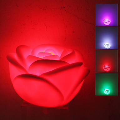 Lovely Flower Ball Style Colorful Light LED Night Lamp (3xLR44)