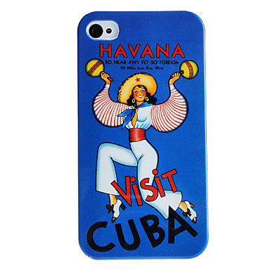 Havana Style Dancing Girl Pattern Hard Case for iPhone 4/4S