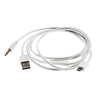 mikro USB ve aux kablo samsung galaxy s3 i9300 için ve diğerleri için usb