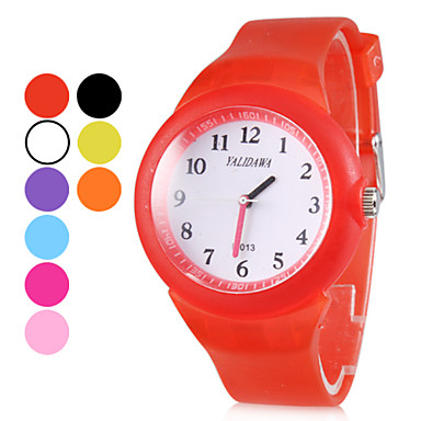 Unisex casual stijl Rubber Analoog Quartz Wrist Watch (verschillende kleuren)