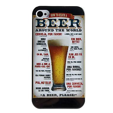iphone 4/4s için bira tarzı koruyucu geri durumda