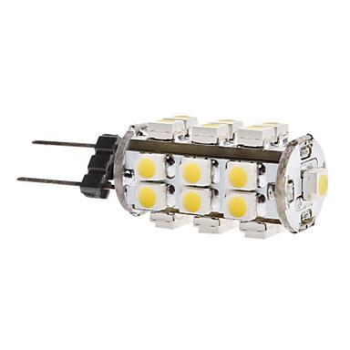 1.5w g4 a mené des lumières de maïs t 28 smd 3528 180lm blanc chaud 3500k dc 12v