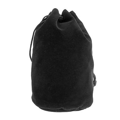 Algodón Franela bolsa protectora para la lente de cámara C6 (100 * 190 mm, Negro)