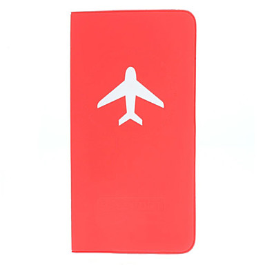 Long Type Simple Plane Pattern Passport Case for Travel(Random Color)
