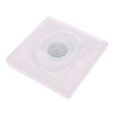 IR Infrared Motion Sensor Automatic Light Lamp Switch 110V - 250V AC White