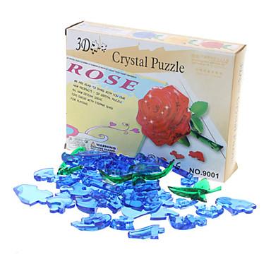 Rose 3D Crystal Puzzle Valentine's Day Gift (44pcs, Model:9001, Random Color)