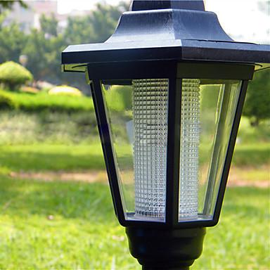 Solar LED White Light Wall Mount Garden Path Lamp
