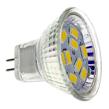 2W 200 lm GU4(MR11) LED Spot Işıkları MR11 9 led SMD 5730 Sıcak Beyaz DC 12V