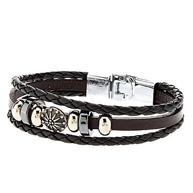 Women's Charm Bracelet Leather Bracelet Leather Alloy Jewelry Sports
