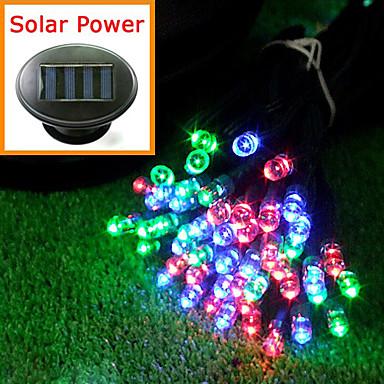 Solar Powered 12M 100-LED värikäs valo vilkkuu String Lamppu