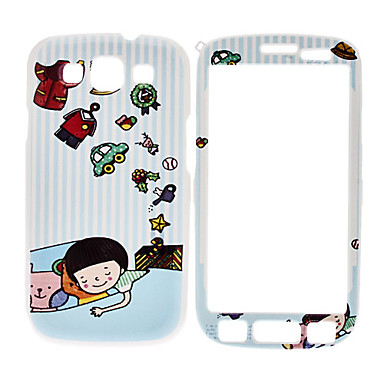 Sleeping Boy Pattern edestä ja takaa Full Body Case for Samsung Galaxy S3 I9300