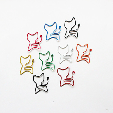Cat Style Colorful Paper Clips (10PCS)