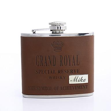 Couro Flask presente personalizado Brown 5 oz PU