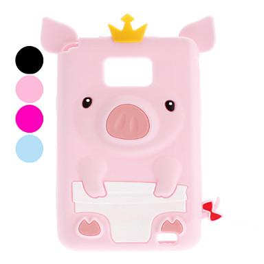 SamsungギャラクシーS2 I9100のための豚のデザインソフトケース(アソートカラー)