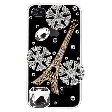 Snowflake Tower Transparent Case for iPhone 4/4S