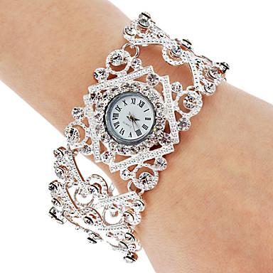 Kadın's Bilek Saati Bilezik Saat Moda Saat Japonca Quartz Gündelik Saatler Alaşım Bant Bohem Zarif Gümüş