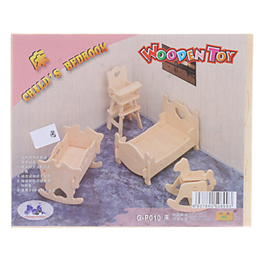 Child's Bedroom DIY Wooden 3D Puzzle Jigsaw (Model:G-P010)