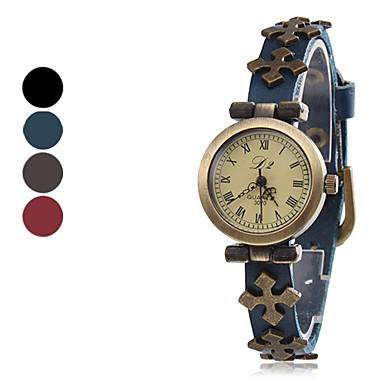 Women's Quartz Leather Analog Wrist Watch (Assorted Colors)