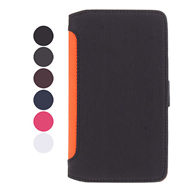 Stand Available Leather Samsung Mobile Phone Cases for Galaxy Note 2/7100(6 Colors)
