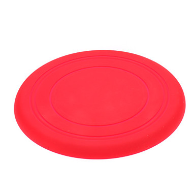 Funny Soft Silicone Flying Disk for Dogs (Assorted Color)