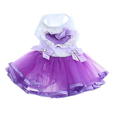 bowknot adornados corazón patrón vestidos de novia para perros y