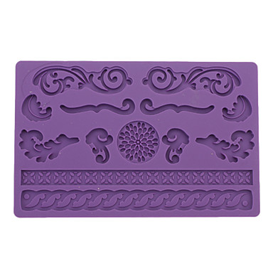 DIY Baking Lace Style Fondant Cake Embossing Mould (Random Color)