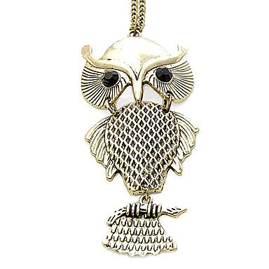 Fashion Retro Owl Sweater Chain Necklace