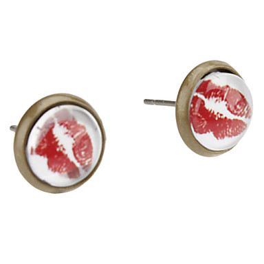 Sexy Lip Mønster Alloy Earrings