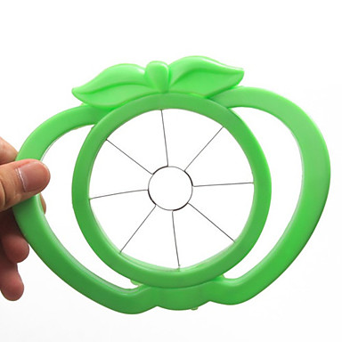 elma şeklinde plastik kolay meyve dilimleyici kesici alet (rastgele renk)