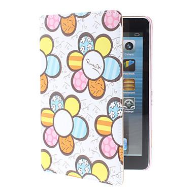 Farverige blomster mønster PU Læder taske med holder til iPad mini