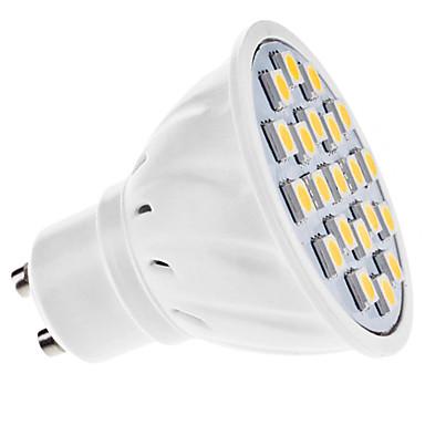 DAIWL GU10 3.5W 21x5050smd 180-210lm 3000-3500k warmes weißes Licht LED Spot Lampe (AC 110-130 / 220-240 V Wechselstrom)