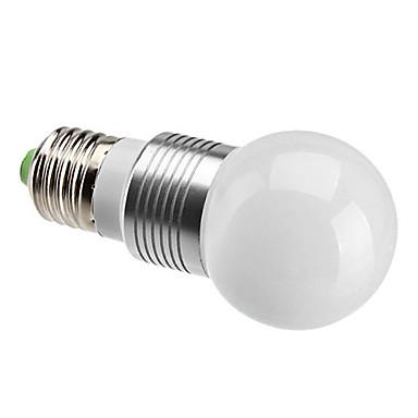 E26/E27 - 3 W- G - Globlampor (Naturlig Vit , Bimbar) 240 lm AC 220-240