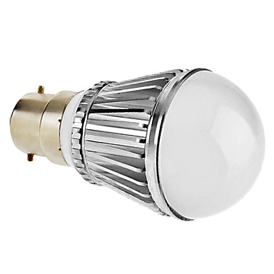 B22 5 W 5 High Power LED 300-330 LM Natural White Dimmable Globe Bulbs V