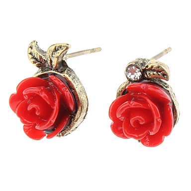 OLL Retro Rose Asymmetric Earrings