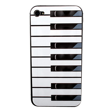 Piano Pattern Front and Back Screen Protector for iPhone 4/4S