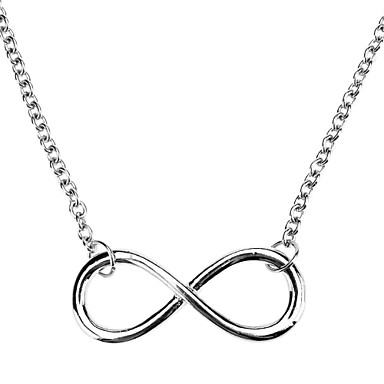 Women's Girls' Infinity Pendant Necklace - Adjustable Infinity Necklace For Halloween Daily